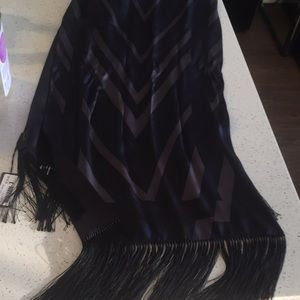 NWT 100% authentic Louis Vuitton silk fringe scarf